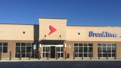 Break Time recently unveiled a redesigned logo and accompanying graphics on its new store in Lee's Summit, MO.