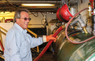 Bulk oil driver Ron Walbourn delivers lubricants to customers in northwest Missouri.