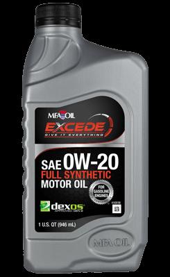 Excede Full Synthetic dexos1™ Motor Oils