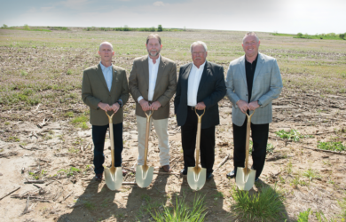 From left: Ernie Verslues, president and CEO, MFA Incorporated; Don Mills, chairman of the board, MFA Incorporated; Benny Ferrell, chairman of the board, MFA Oil; Mark Fenner, president and CEO, MFA Oil.